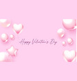 happy valentine s day background with pink foliage vector image vector image