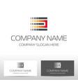 industry logo design vector image vector image