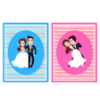 just married husband and wife on wedding vector image vector image