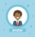 man african american avatar businessman profile vector image vector image