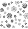mandala seamless pattern on white background vector image vector image