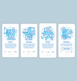 manufacturing process blue onboarding mobile app vector image vector image