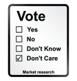 Market Research Vote Sign vector image vector image