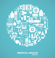 Medical icon background vector image