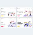 mobile app development smm seo technology vector image