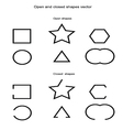 Open and closed shapes vector image
