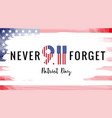 patriot day usa brush paint banner vector image