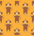 pattern with monkeys vector image vector image