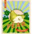 Pear retro poster vector image vector image