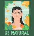poster be natural concept vector image