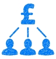 Pound Shareholders Grainy Texture Icon vector image vector image