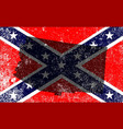 rebel civil war flag with arizona map vector image vector image