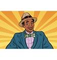 Retro African American businessman with dollar tie vector image vector image
