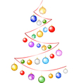 Ribbon tree with bauble vector image