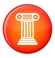 Roman column icon flat style vector image vector image