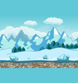 seamless background with winter landscape vector image vector image