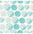 Seamless pattern with hand drawn circle elements vector image