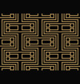 seamless pattern with squares black gold diagonal vector image