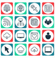 set of 16 world wide web icons includes followed