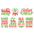 set of new year hand lettering on white background vector image vector image