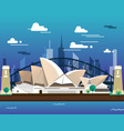 sidney opera house and bridge for traveling vector image vector image
