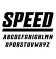 speed and sport letters set tall bold italic vector image