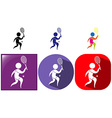 Sport icon for tennis in three designs vector image