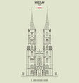 st john cathedral church in wroclaw vector image vector image