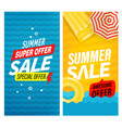 summer super sale banners set vector image