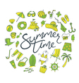 summer time pattern green yellow vector image vector image