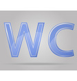 transparent sign toilet vector image vector image