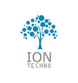 tree ion technology logo vector image