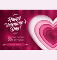 valentine day card background love sale deal vector image vector image