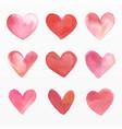 variety loving hearts set vector image vector image