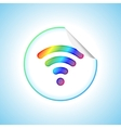 Wifi Sticker vector image