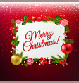 xmas banner with red glitter background vector image vector image