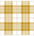 yellow tartan plaid seamless pattern vector image vector image