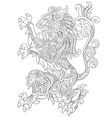 Zentangle stylized cartoon lion vector image vector image