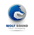 wolf bolt Color Logo Creative colorful abstract vector image