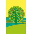green bird on the tree vector image