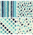 A set of four seamless patterns vector image vector image