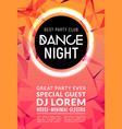 abstract disco dance night party poster brochure vector image vector image