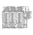 air compressor vintage vector image