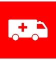 ambulance sign vector image vector image