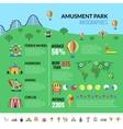 Amusemennt Park Attractions Visitors Infographics vector image vector image
