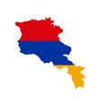 armenia flag and map vector image