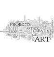 art for kid text word cloud concept vector image vector image
