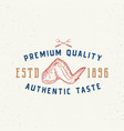authentic taste meat vintage typography label vector image vector image