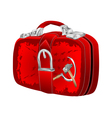 bag with soviet flag vector image vector image