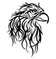 bald eagle head sketch vector image vector image